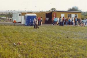 Skurvogne på B 52s anlæg 1970. Et forhold Marius Andersen var stærkt utilfreds med.