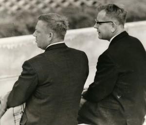 Marius Andersen til højre og SAM på Stadion 1960